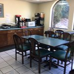 This was the breakfast area in the front office