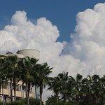 Aussicht vom Strand - mit phänomenaler Wolkenbildung