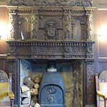 Jacobean fireplace in the lounge