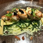 Scallops with champagne sauce
