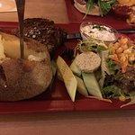 Nice steak. Large portions.