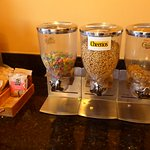 Cereal selections OK when supplemented by Townplace Suites cereal.