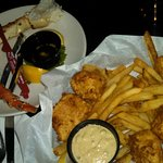Halibut Fish & Chips and 1/2 pound Crab Legs