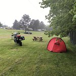 Very open campground and soggy ground when wet