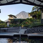 Jacuzzi with Arenal volcano view at Arenal Observatory Lodge & Spa