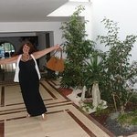 me in hall way where they brought the garden in on top floor