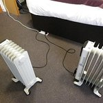 These are the portable heaters that we had to use.
