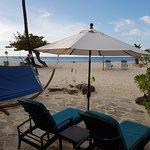 Patio overlooking the beach