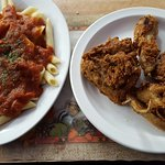 Fried Chicken and Rigatoni