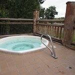 Outdoor Hot Tub! Relax outside.