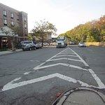 The dangerous BQE, Astoria Blvd divide opposite the hotel