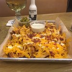This is the cheese fries!!  A-maaa-zing! We each had the 2 meat plates, everything was fantastic