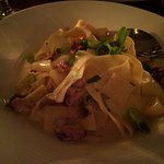 Pasta with cream sauce and chicken