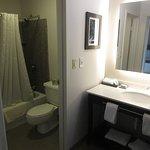 Vanity and Bathroom