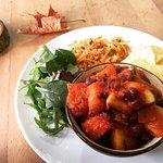 Firey pumpkin and adzuki bean chilli