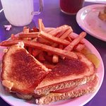 The Totally Grilled Cheese with French Fries