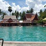 Pool mit Blick auf das Restaurant