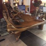 Bench made of drift wood