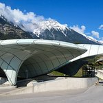 3 min walking from the pension is the cable car station. Made from Zaha Hadid