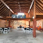 The barn which is available for weddings and events.  This was a halloween party!