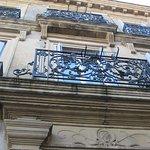 La façade de la maison....