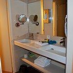Double lavabos, séchoir, miroir etc...