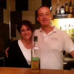 Esteban and Maria with the famous Herbes (Mallorcan Anis)