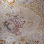 Ceiling in the library/parlor