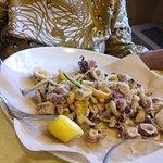 fritto di calamari e zucchine