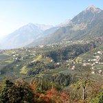 Blick rüber nach Dorf Tirol