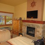 Pinon room fireplace