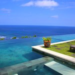 view from the pool in the private villa