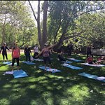 Yoga by the creek