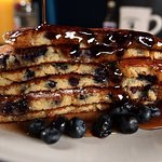 Jumbo Blueberry Pancakes W/ Real NH Syrup