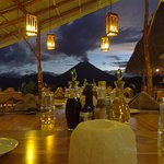 Volcano view at dinner