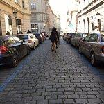 riding through streets