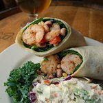 Carolina Shrimp Wrap with Coastal Kolsch