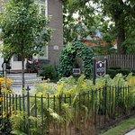 Perennial garden entrance
