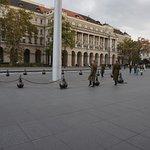 Erewacht op het plein voor het parlement