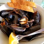 Mussels - big, meaty but some were not open