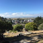 View of Ferndale CA from cemetery