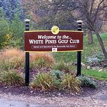 signage at the entrance off of Jefferson St. for White Pines Golf Club