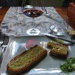 Fresh olive oil crostini