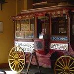 old popcorn wagon, interior of pub