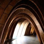 Parabolic arch supporting roof of Casa Mila