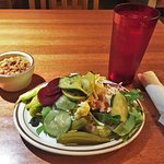 Add a trip to the salad bar. It's a good deal - don't forget to get a bowl of beans (or soup).