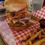 Kardiac Arrest burger - yes, it's rather large