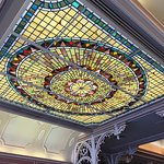 The gorgeous ceiling at the Plaza Inn.