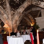 View inside the Abbaye restaurant