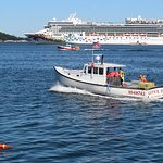 Lobster boats and cruise ships